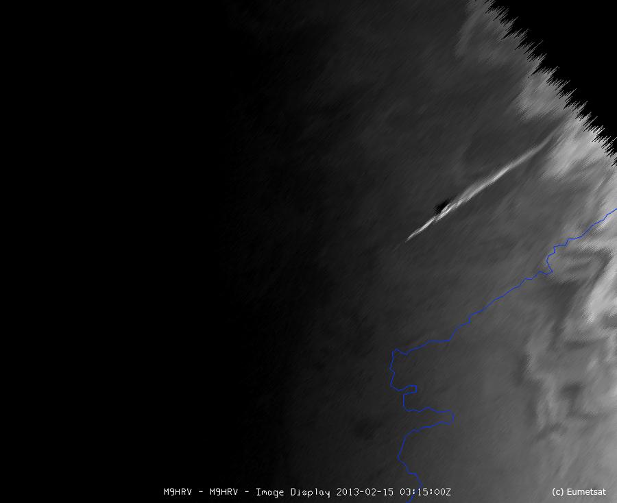 2012 DA14 pris par Météosat9 en infrarouge.