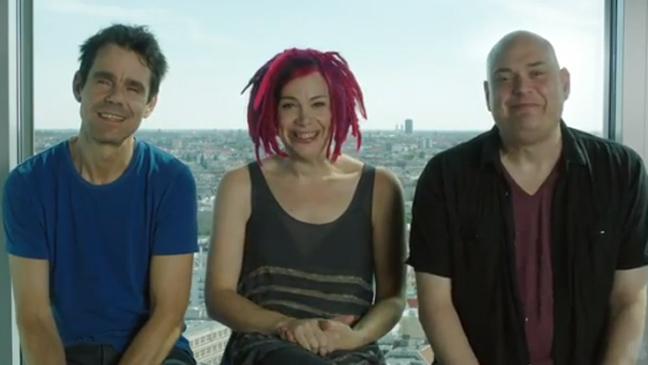 La fine équipe de réalisateurs durant la présentation de la version longue du trailer.