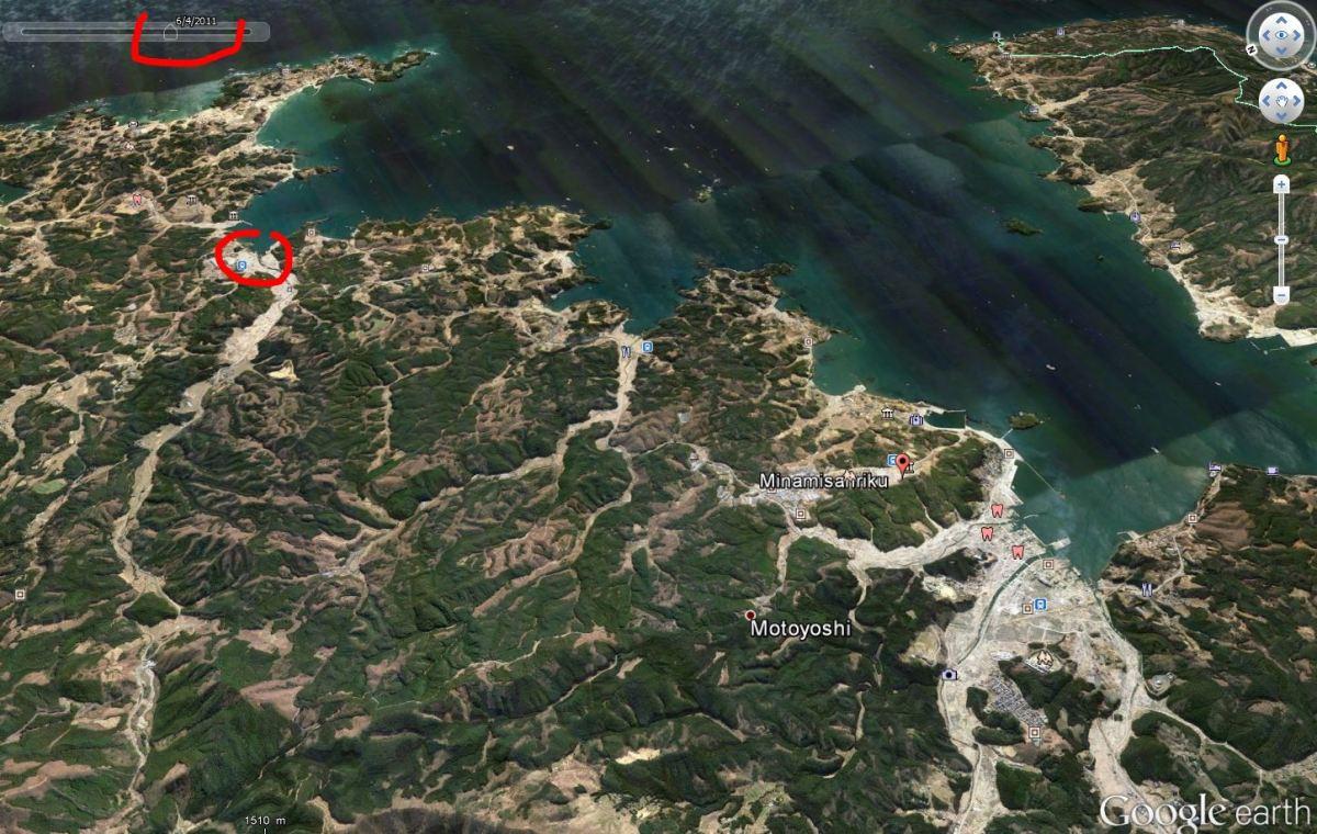 Toute la région après le tsunami.