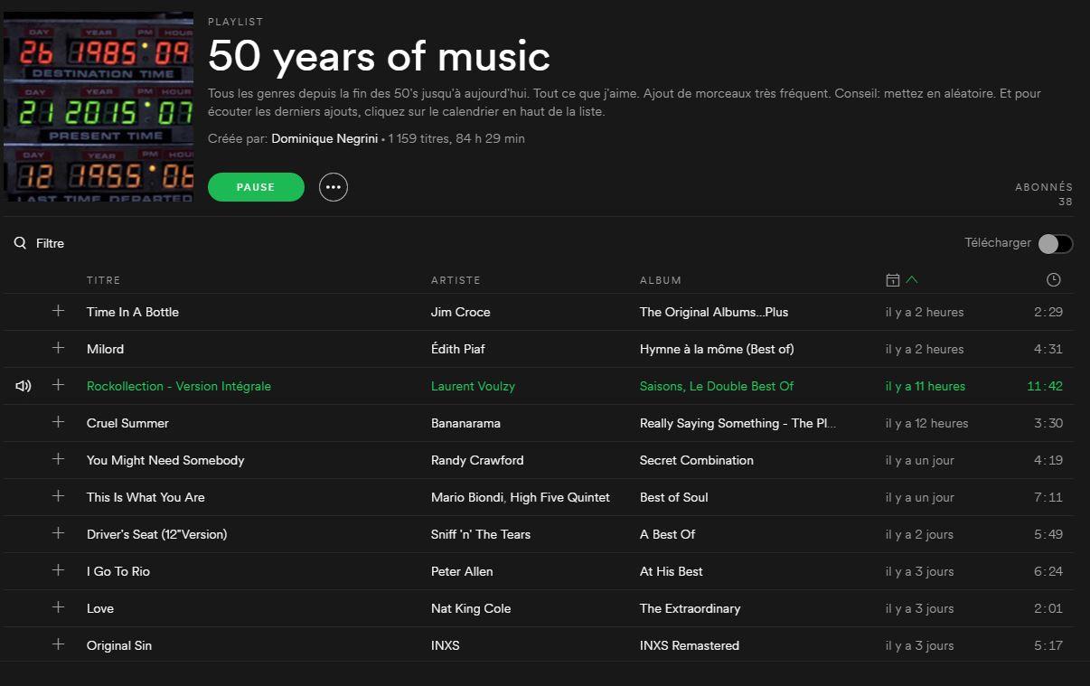 50 ans de musique